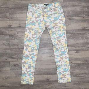 Pants - Pastel Camo Jeggings ( grey, light yellow, green)